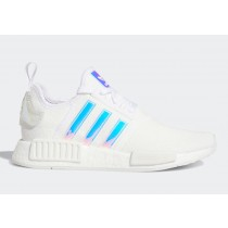 """Adidas NMD R1 """"Iridescent"""" FY1263 Blanche"""
